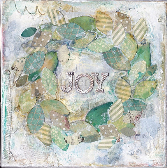 Joy Original Mixed Media Painting on Canvas Wall Art