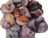 Neverwhere -- mini batts (2 oz.) organic polwarth, merino wool, silk, bamboo, tencel.