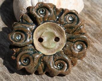 Handmade Stoneware Button