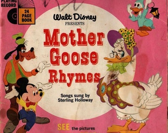 Walt Disney Presents Mother Goose Rhymes - 1952 - Vintage Book