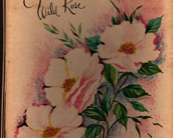 Wild Rose Stationery Set in Box - Vintage