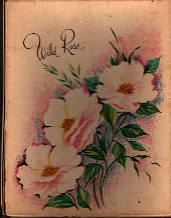 Wild Rose Stationery Set in Box - Vintage