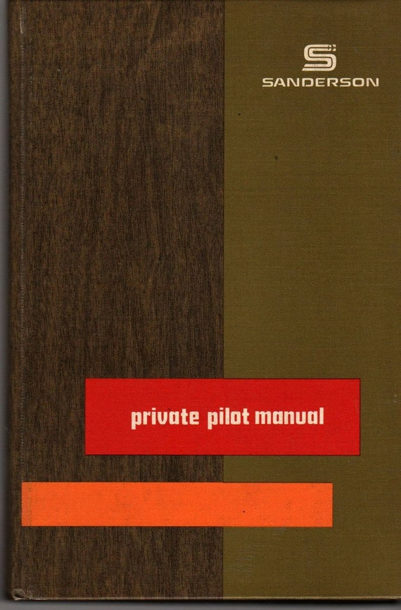 Private Pilot Manual - Jeppeson Sanderson - 1977 - Vintage Book