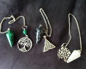 Clearance Sale Choice of Dowsing Crystal for Divination, OOAK, Metaphysical Healing Pendulum