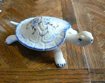 Hand Painted Ceramic Turtle dish