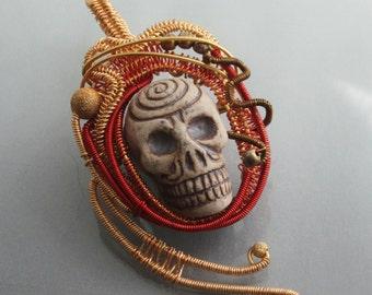 Day of the Dead Skull Pendant