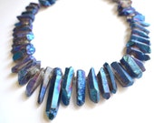 The Avery- Blue Quartz and Silver Chain Necklace