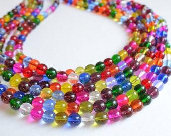 Michelle - Multi Color Glass Bridesmaid Statement Necklace