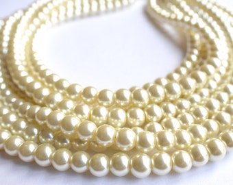 Michelle - Ivory Pearl Statement Necklace