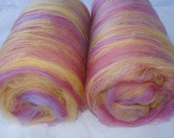 3.5oz merino wool batts, spinning batts, batts for felting, batts for spinning, felting fiber, spinning fiber, fibre batts, pastel, ,100g