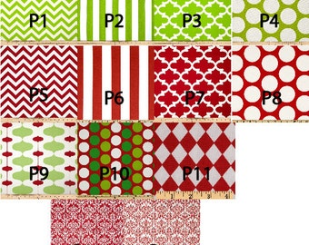 Personalized Modern Red and Green Christmas Stocking Set for the Family - Many Fabrics to Choose from