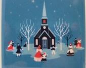 Victorian Steeple Christmas Coaster