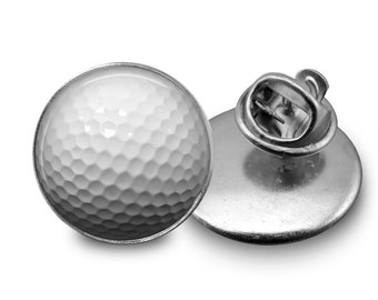 Golf Ball Tie Tack or Lapel Pin - Men's - Father's Day