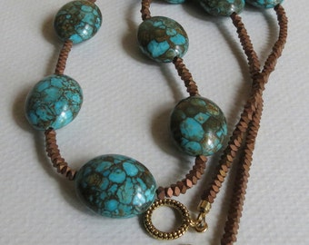 Turquoise Necklace with Hematite, Statteam