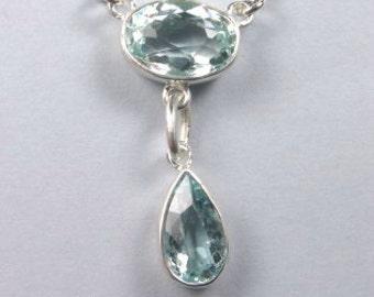 Aquamarine pendant.