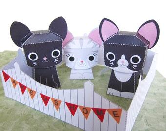 Printable Kitty Adoption Fair Paper Craft PDF