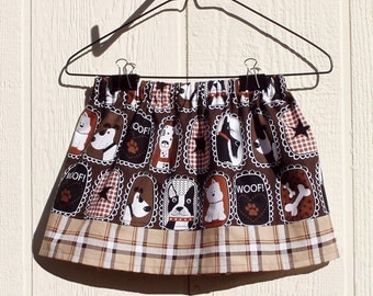 Elastic Waist Toddler Dog Skirt, Size 2 Toddler