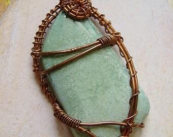 Copper Turquoise Pendant