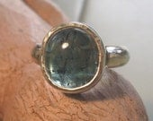 Blue tourmaline and sterling ring