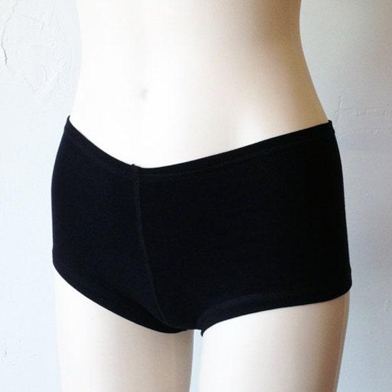 Bamboo Underwear, Hot Pants, Black