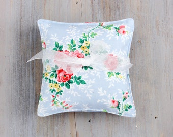 Sky Blue Floral Lavender Sachets, Sweet Cottage Chic