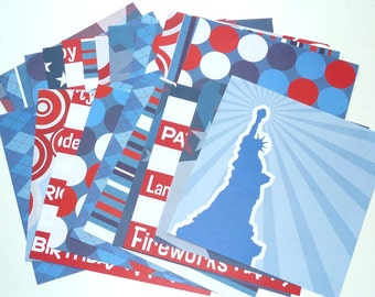Stock Paper Independence Day Card  24 Sheets