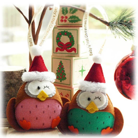 Items Similar To The Holiday Santa Owl Holiday Gifts For