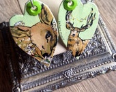 Daisy Doe, Chamomile Buck - hand-painted flora and fauna earrings