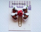 Christmas Reindeer Planner Clip, Bookmark, Planner Accessory, Paper Clip