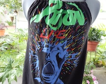 Upcycled Tank Top, Vintage Poison T-shirt OOAK Shirt, Upcycled Shirt,Tank Top,Upcycled, Recycled Tshirt Halter, Recycled Shirt