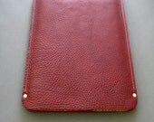 Laptop sleeve - Port burgundy leather - available in assorted colors