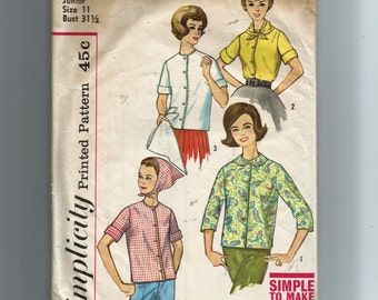 Simplicity Teen And Junior  Blouse and Scarf  Pattern 4603