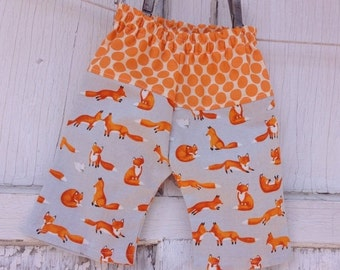 35% OFF CRAZY SALE- Whimsies Baby Loungers-Eco Friendly Pants-Foxy