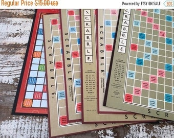 40% FLASH SALE- Scrabble Game Boards-Book Making-Supplies-Altered Art-Mixed Media