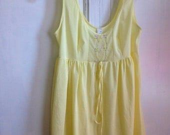 40% OFF FLASH SALE- Vintage  Princess Nightgown-Robe-Yellow 2 Piece