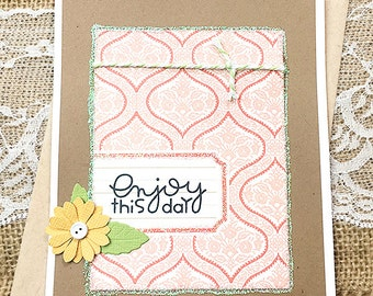 """Enjoy This Day Greeting, Note Card, Birthday, Wedding, Celebrate, Thinking of You, Congratulations, Friendship, Encouragement - 4.25"""" x 5.5"""""""