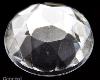 15mm Crystal Faceted Round Cabochon (8 Pieces) #3902