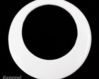 65mm Opaque White Hoop Blank (4 Pcs) #4012