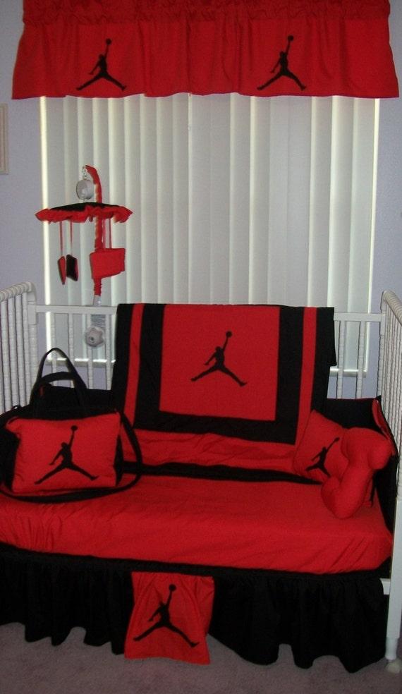 New 9 piece michael jordan baby crib bedding set diaper bag - Michael jordan bedroom decor ...