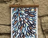 11x17 Loops Print - Blue Copper