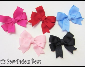 Small Tails Down Hair Bows Without Crystals - 2.5 inch bow - toddler hair bow - baby bow - order as many as you want with this listing