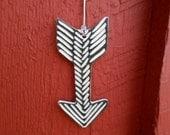 Modern Carved Porcelain Arrow Ornament