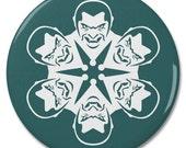 "Dracula Vampire Snowflake 2.25"" Pinback Pin Button Badge"