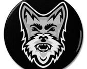 "Schnauzer Dog Mascot 2.25"" Pinback Pin Button Badge"