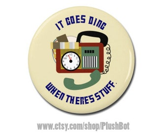 """Timey Wimey Detector Doctor Who Button 1.25"""" or 2.25"""" Pinback Pin Button Badge"""