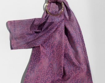 Doll Carrying Ring Sling - Toy Carrier - Babywearing - Baby Doll Sling - Baby Doll Carrier - Baby Doll Ring Sling - Doll Care - Purple Batik