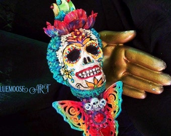 Dia de Los Muertos Sugar Skull Art or Costume Prop