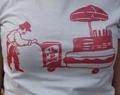 Ignatius Hot Dog Cart - Womens Tshirt