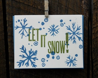 Let It Snow Letterpress Holiday Cards