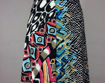 "Snap Around Skirt  ""LA Collage"" FREE SHIPPING"